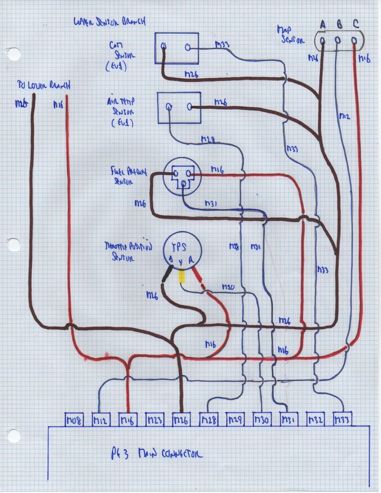 Upper Sensor Branch Wiring Diagram  U2013 Junk Yard Zetec